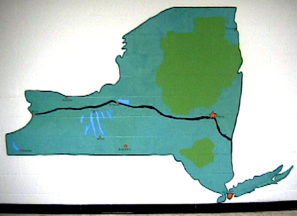 map of NY state