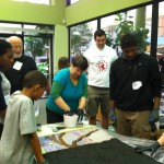 Community Help Grouting Public Art Mosaic