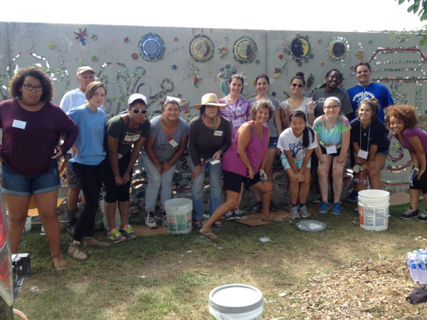 Volunteers, artists, & mosaic apprentices
